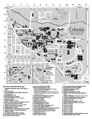 University of Colorado at Boulder Map