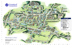 University of Connecticut - Storrs Campus Map