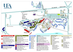 University of East Anglia Map