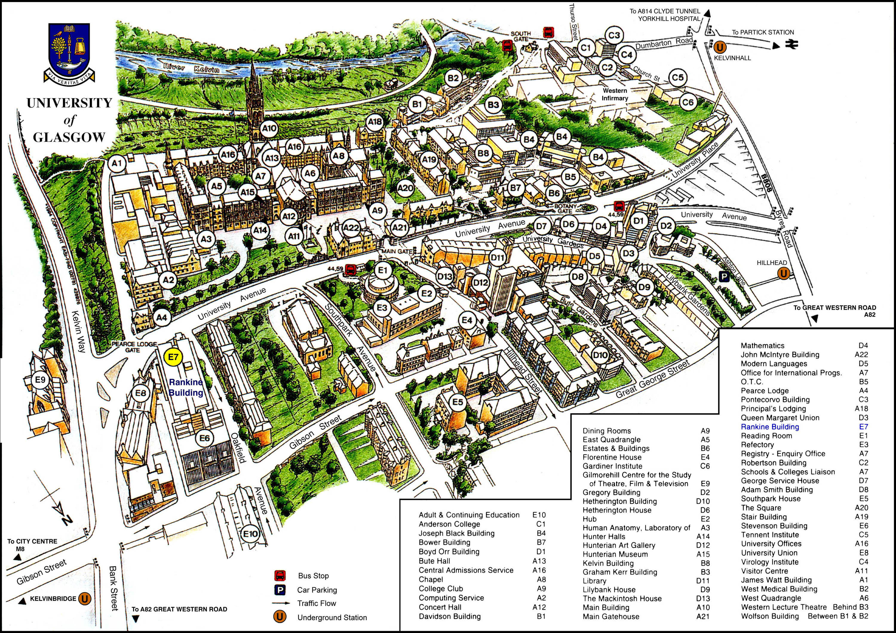 University of Glasgow Map University of Glasgow Glasgow UK mappery – Map University