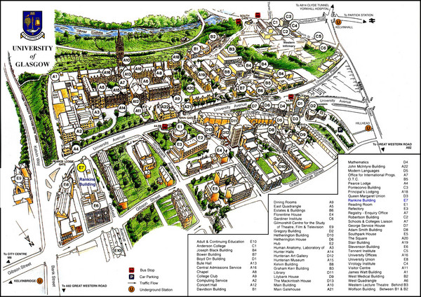 University of Glasgow Map