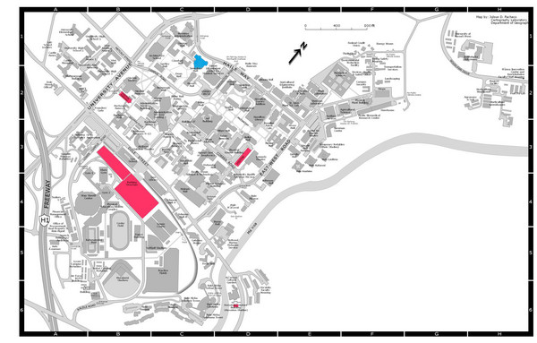 University of Hawaii Manoa Campus Map - Honolulu HI • mappery on
