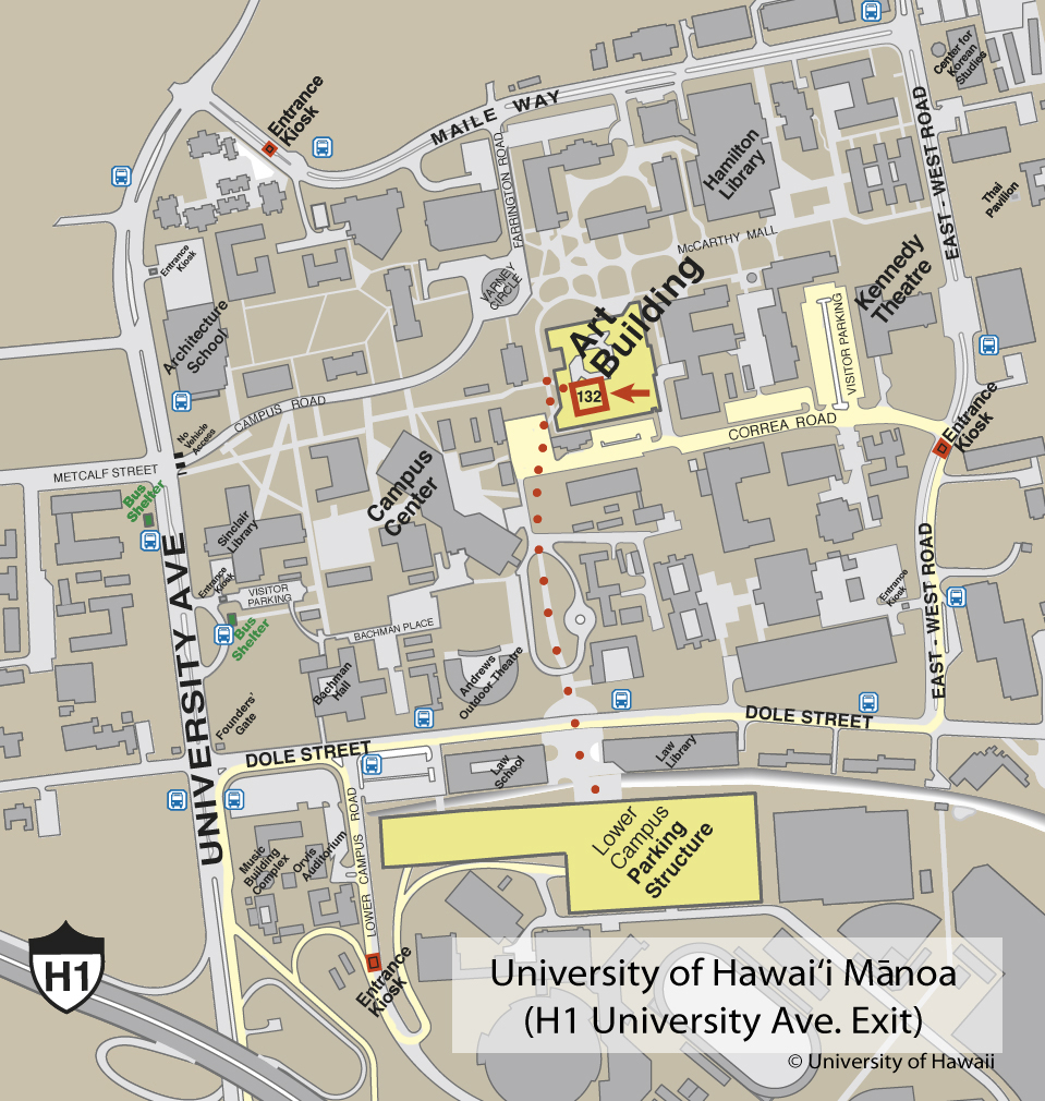 University of Hawaii at Manoa Campus Map - Univeristy of ...