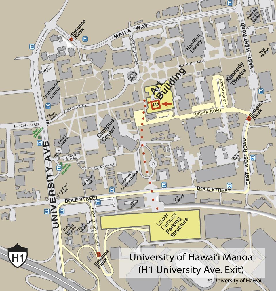 University Of Hawaii At Manoa Campus Map Univeristy Of Hawaii At