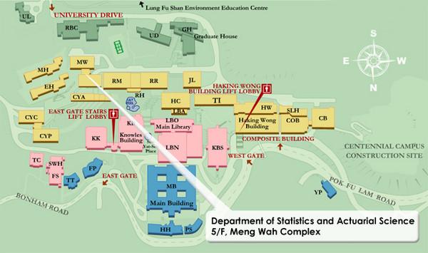 University Of Hong Kong Campus Map University Of Hong
