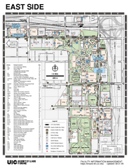 University of Illinois at Chicago - East Map
