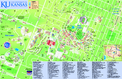 University of Kansas - Main Campus Map