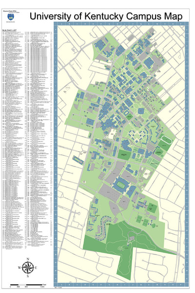 University of Kentucky Campus Map