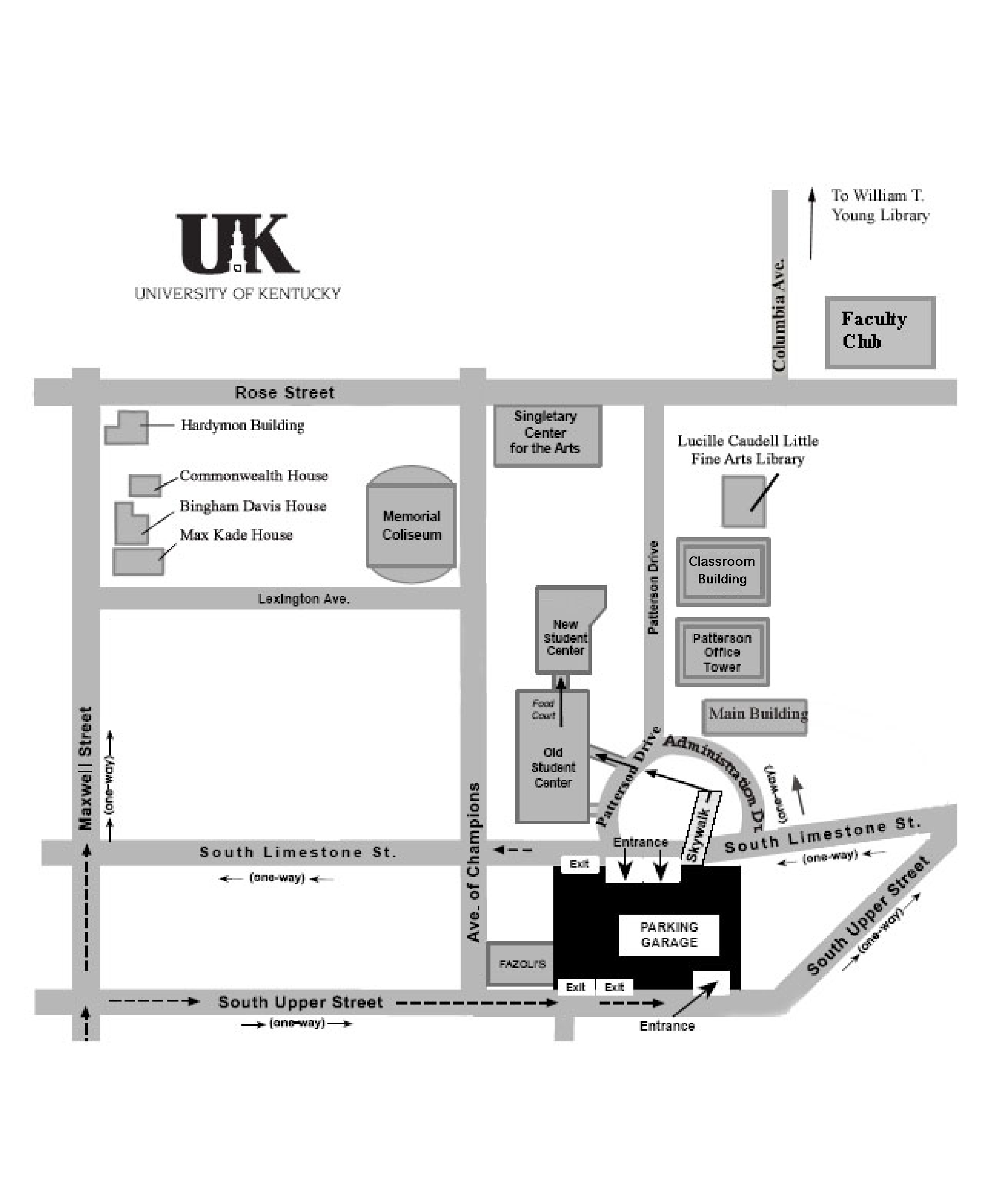 Kentucky Campus Map.University Of Kentucky Campus Map Lexington Kentucky Usa Mappery