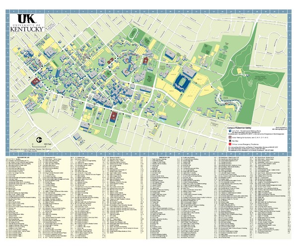 University of Kentucky Campus Map   Lexington KY 40506 • mappery