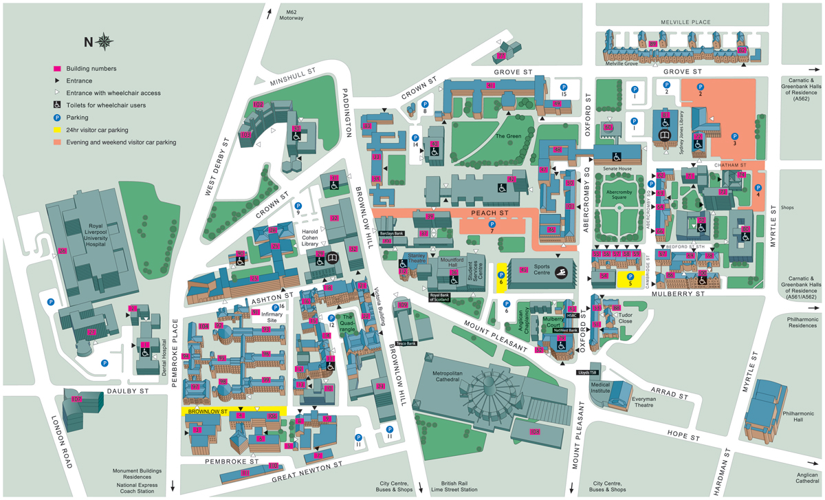 Liverpool On The Map Of England.University Of Liverpool Map University Of Liverpool Liverpool