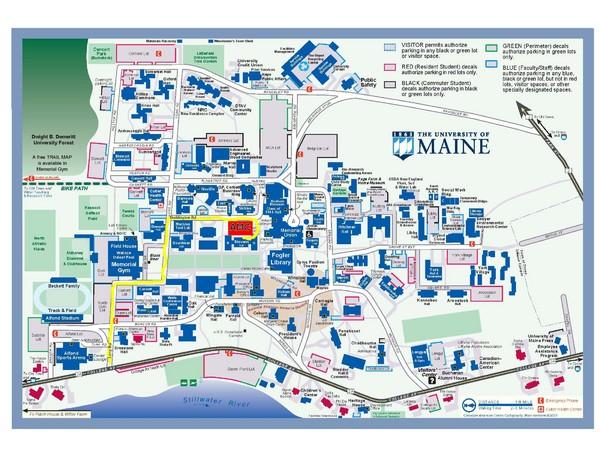 University of Maine Campus Map   University of Maine Orono ME