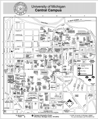 University of Michigan - Ann Arbor Map