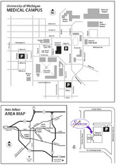 University of Michigan Medical Campus Visitor Map