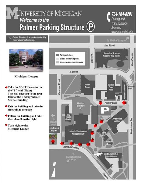 University of Michigan Palmer Parking Map