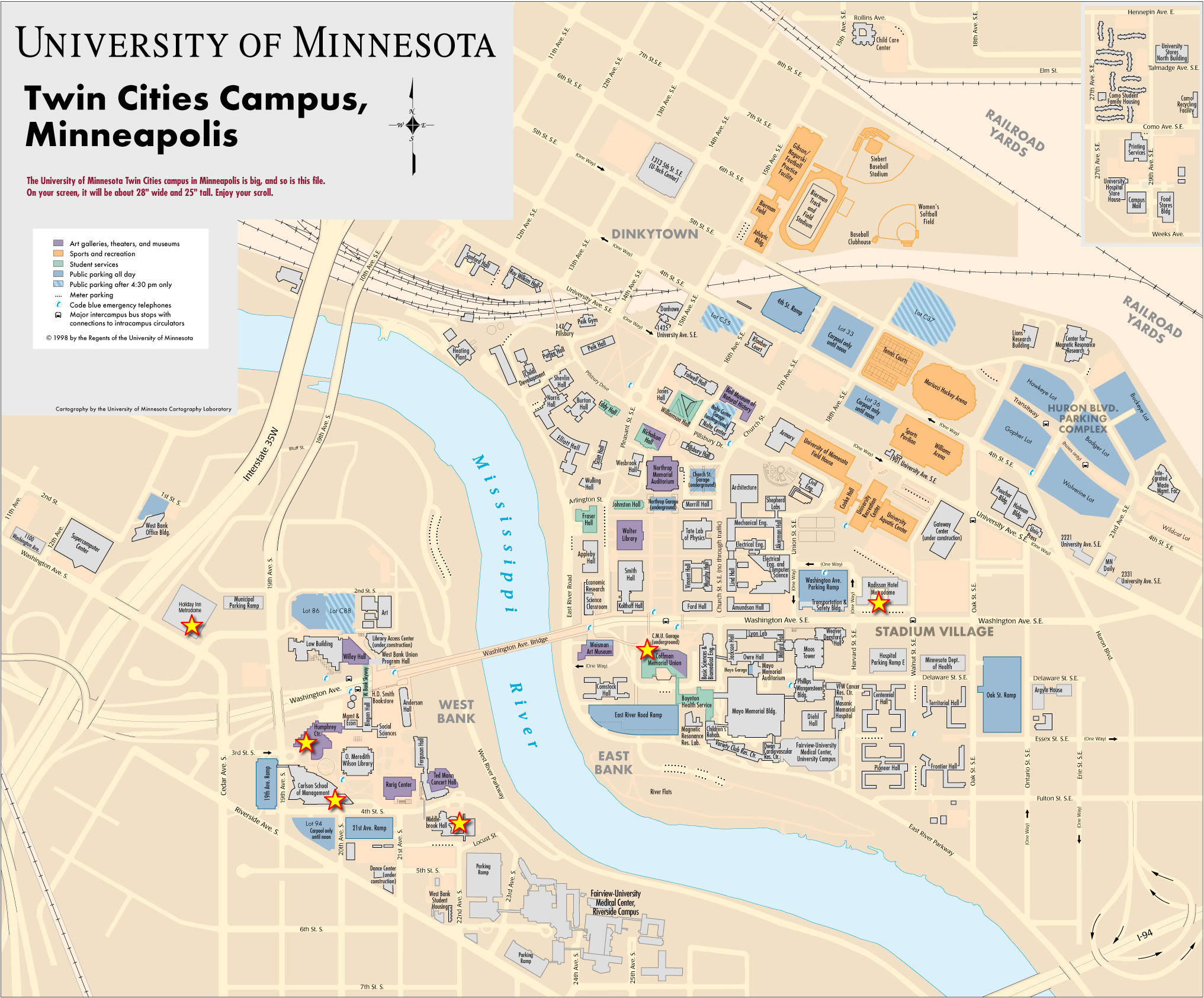 University Of Minnesota Twin Cities Campus Map MinneapolisSaint - Map of minnesota cities