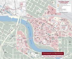 University of Minnesota, Twin Cities Campus Map
