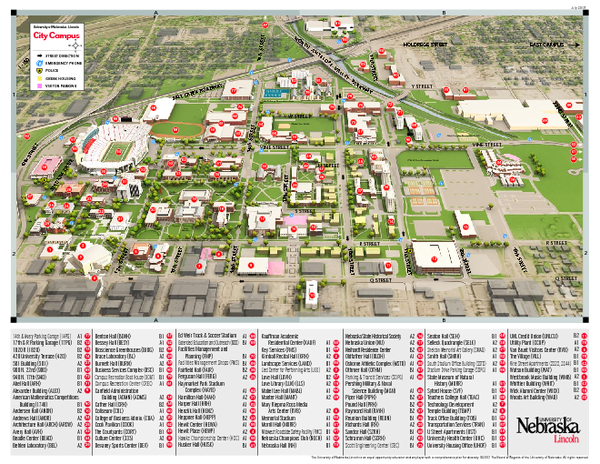 University Of Nebraska Lincoln Map Lincoln Nebraska Mappery