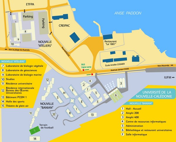 University of New Caledonia Map Nouville New Caledonia mappery