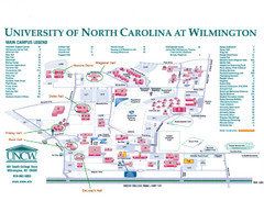 University of North Carolina at Wilmington Map