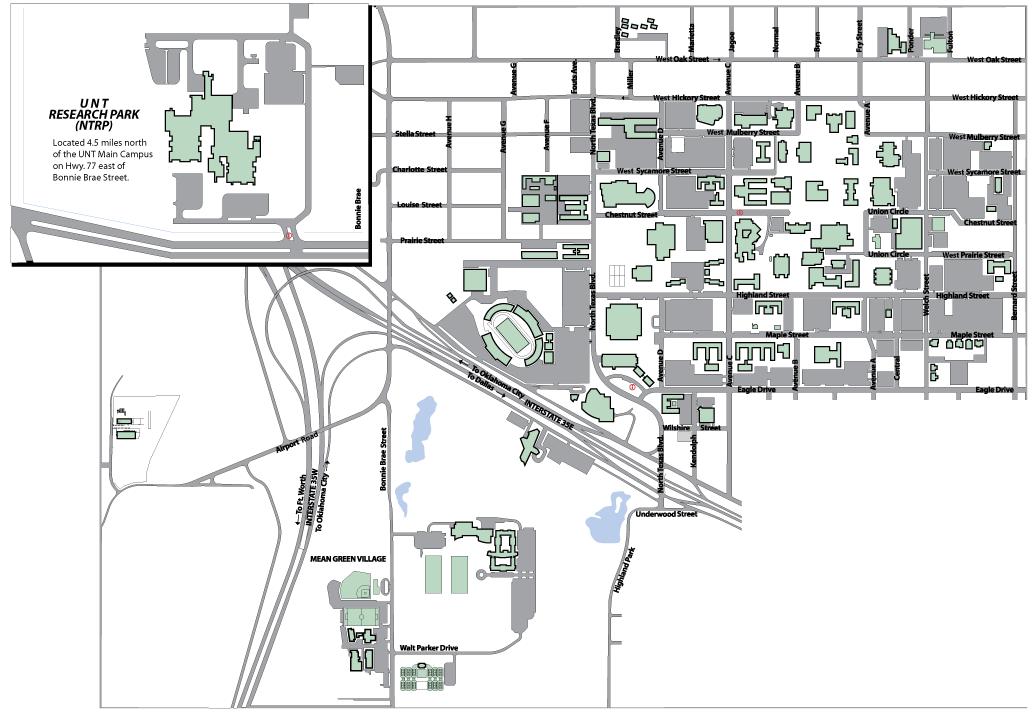 University Of North Texas Map Denton Texas Mappery - North texas map