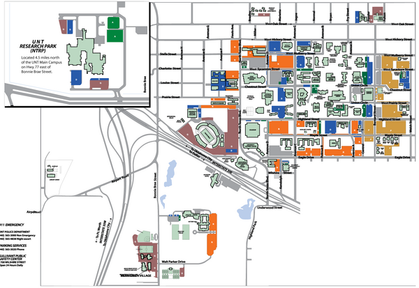 University Of North Texas Research Park NTRP Map N Texas - North texas map