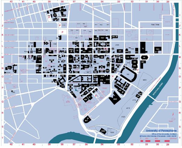 University Of Pennsylvania Map Philadelphia Pennsylvania Mappery - Philadelphia university map