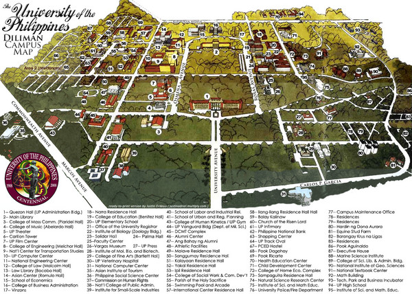 University of Phillippines Campus Map