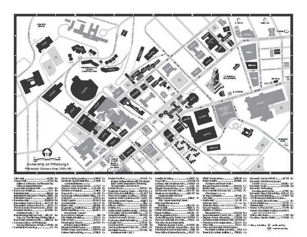 University of Pittsburgh   Main Campus Map   Pittsburgh PA • mappery