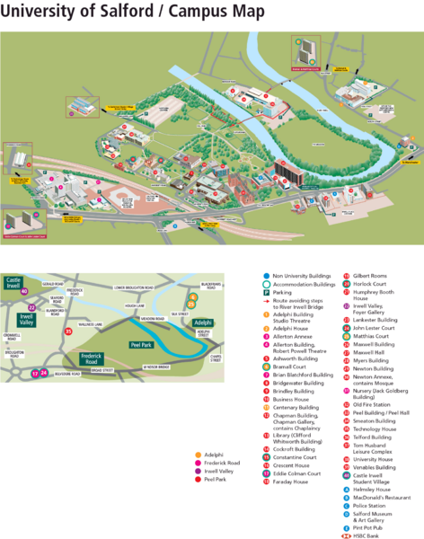 University of Salford Map