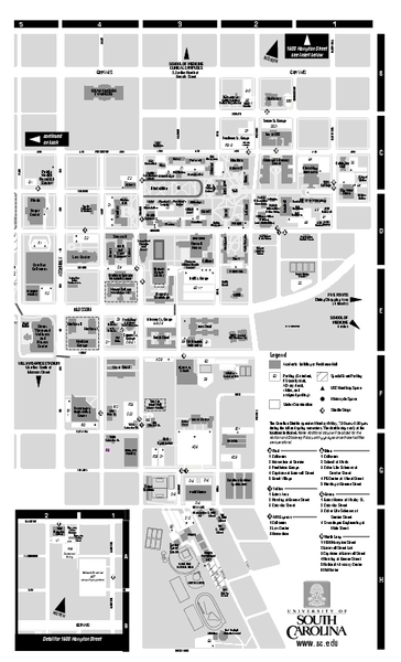 University of South Carolina - Columbia Map - Columbia SC ...