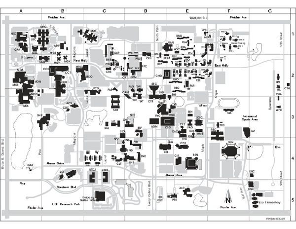 University of South Florida Map - Tampa Florida • mappery