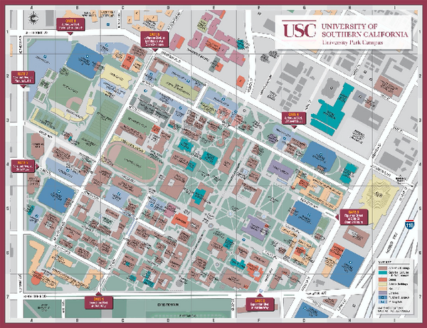 University of Southern California Map - Los Angeles ...