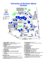 University of Southern Maine - Gorham Map