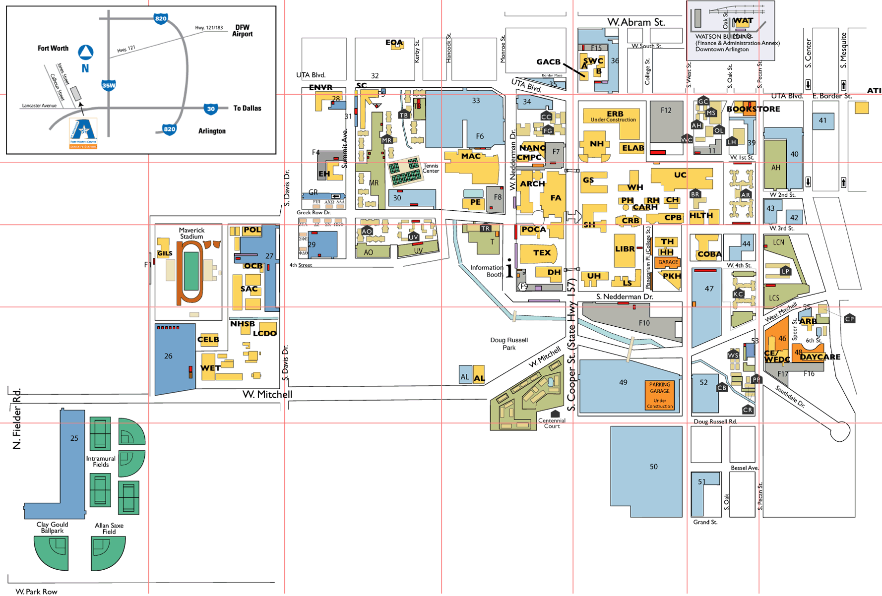 University Of Texas At Arlington Map