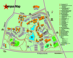 University of Texas at Tyler Map