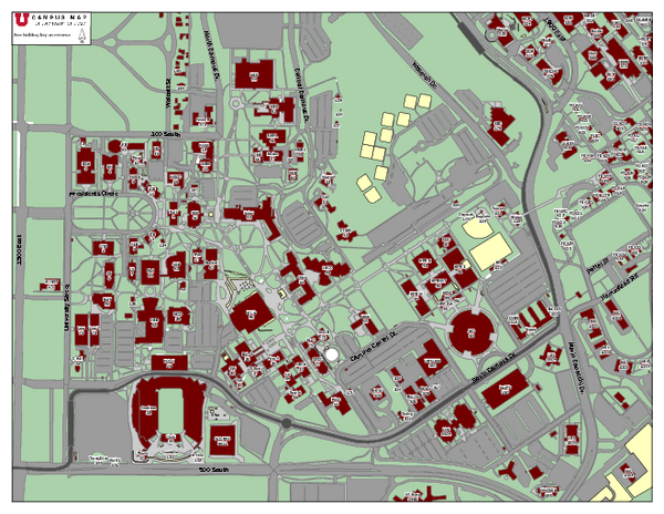 University of Utah Map   University of Utah • mappery