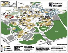 University of Victoria - Cycling Amenities Map