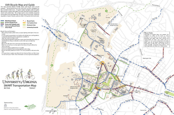 University of Virginia SMART Transportation Map