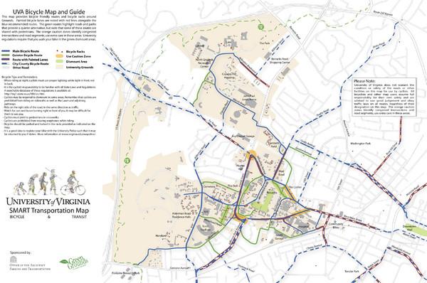 University Of Virginia SMART Transportation Map University Of - Uva map