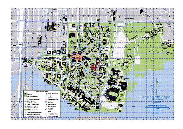 University of Washington   Seattle Campus Map   Seattle Washington