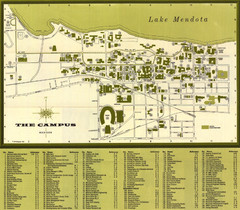 University of Wisconsin-Madison Campus (1964 Small Map)