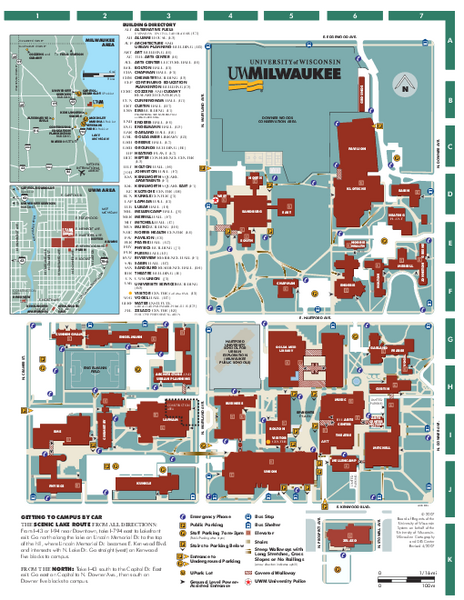 University of Wisconsin - Milwaukee Map