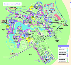 University of York Map - Heslington Campus