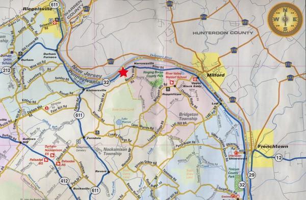 Upper bucks county pennsylvania tourist map upper bucks county pa