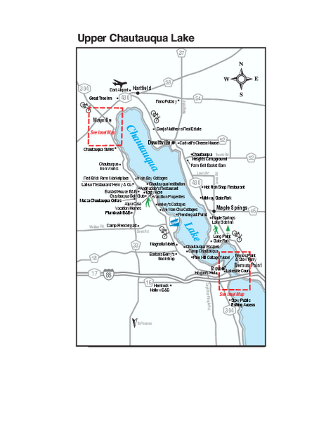 Upper Chautauqua Lake Map