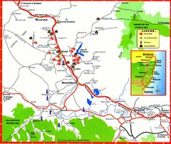 Upper Hunter Valley Tourist Map