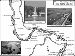 Upper Mississippi River Mile 188 to Mile 256 Map