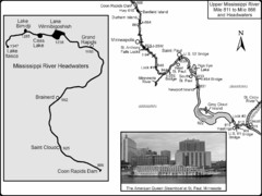 Upper Mississippi River Mile 811 to Mile 1347 Map