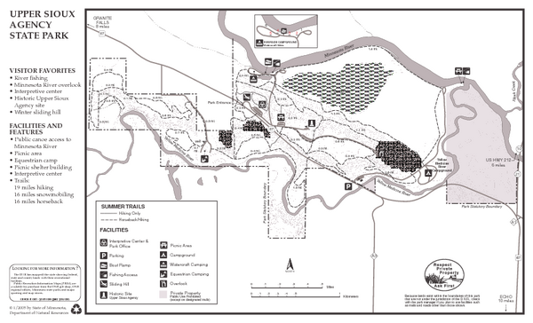 Upper Sioux Agency State Park Summer Map